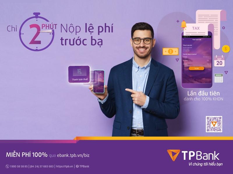 Yên tâm nộp lệ phí trước bạ qua TPBank