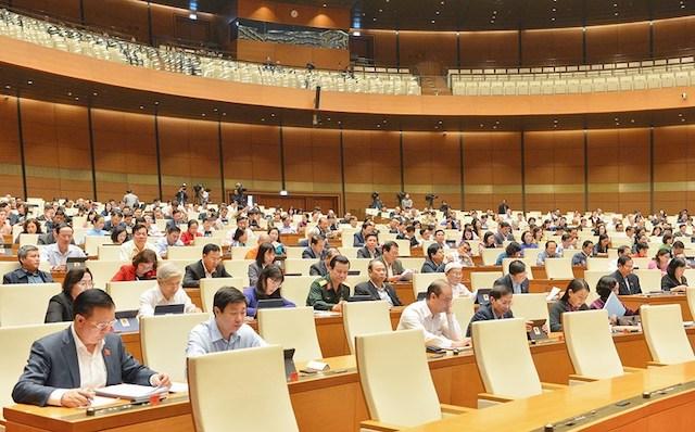 Một phiên họp toàn thể của Quốc hội khoá XIV.