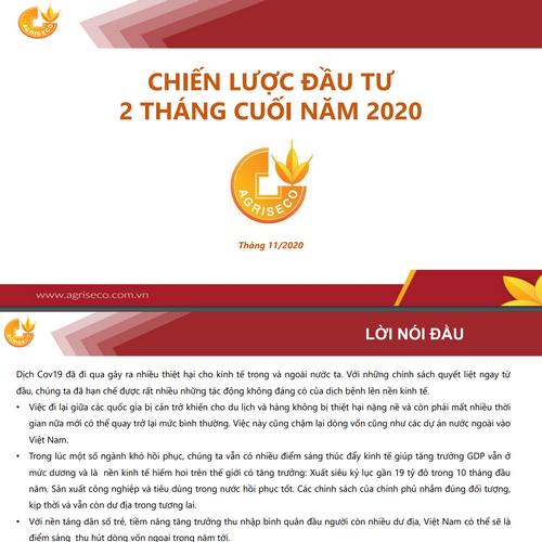 Agriseco: Chiến lược đầu tư 2 tháng cuối năm 2020