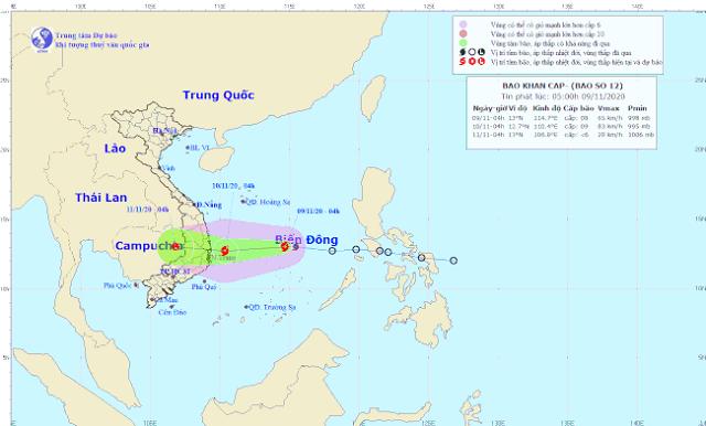 Áp thấp nhiệt đới đã mạnh lên thành bão số 12, có khả năng mạnh thêm