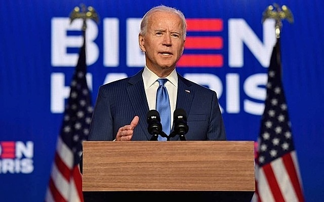Ông Joe Biden phát biểu về kết quả bầu cử tại Wilmington, Delaware ngày 6/11. Ảnh:Reuters