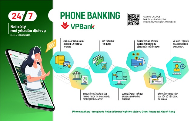 Phone banking – Nơi xử lý mọi yêu cầu dịch vụ của VPBank.