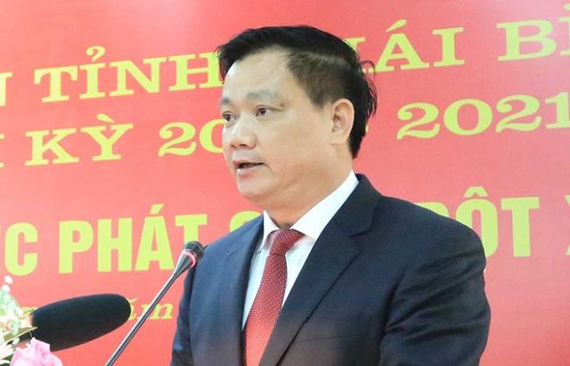 Ông Nguyễn Khắc Thận, tân Chủ tịch UBND tỉnh Thái Bình. Ảnh: Báo Thái Bình.
