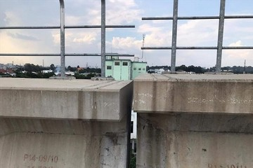 Tuyến metro số 1 gặp sự cố lệch đầu dầm, gây hư hỏng đoạn đường ray