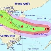 Bão Vamco sẽ đổ bộ khu vực từ Hà Tĩnh đến Thừa Thiên - Huế