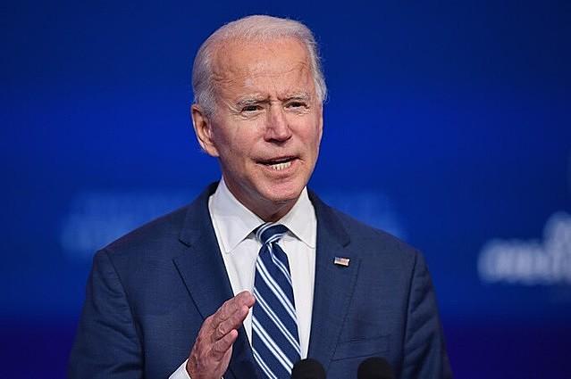 Tổng thống đắc cử Mỹ Joe Biden ở Delaware ngày 10/11. Ảnh: AFP.