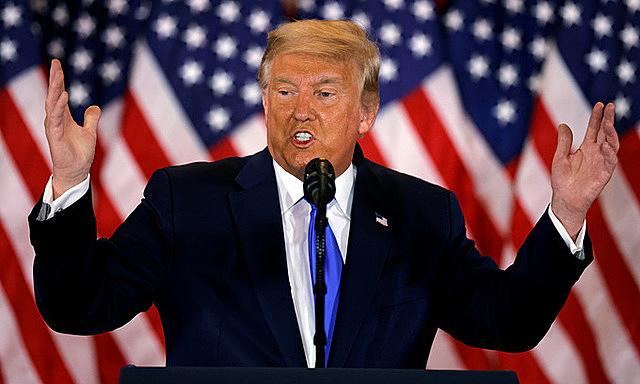 Trump trong cuộc họp báo tại Nhà Trắng hôm 4/11. Ảnh: Reuters.