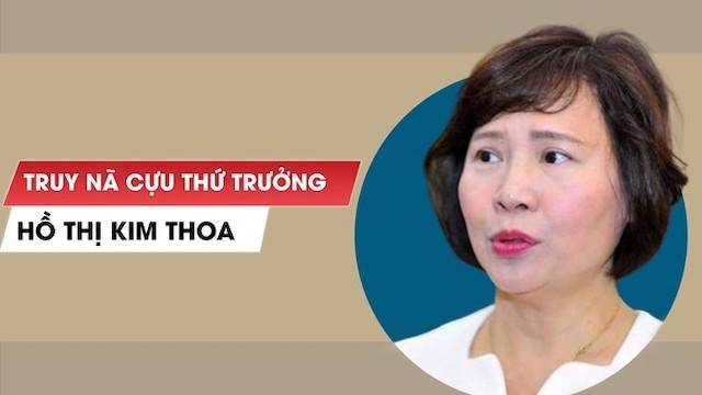 Bà Hồ Thị Kim Thoa bị truy nã từ tháng 7/2020.
