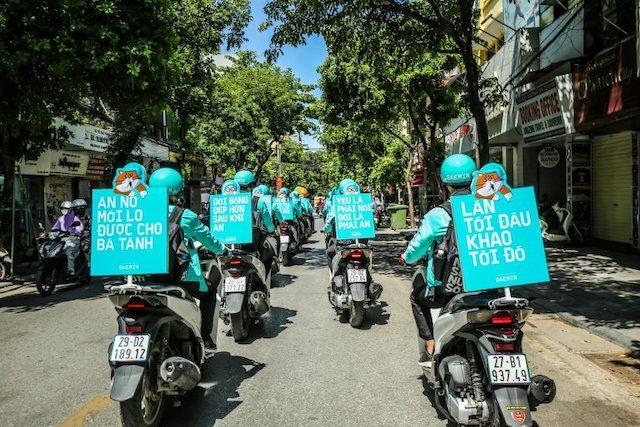 Một chiến dịch quảng cáo của Baemin tại Hà Nội. Ảnh: TechInAsia.