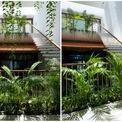 <p> Từ mỗi phòng ngủ, con người đón nhận ánh nắng ban mai xuyên qua tán lá xanh bên những ô cửa lớn.</p>