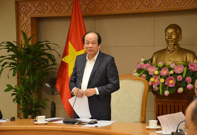 Bộ trưởng, Chủ nhiệm VPCP Mai Tiến Dũng, Tổ trưởng Tổ công tác của Thủ tướng chủ trì cuộc họp.
