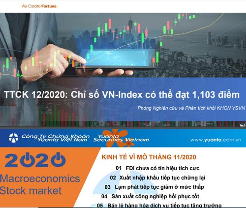 YSVN: Báo cáo vĩ mô tháng 11 và thị trường chứng khoán tháng 12/2020 - VN-Index có thể đạt 1.103 điểm