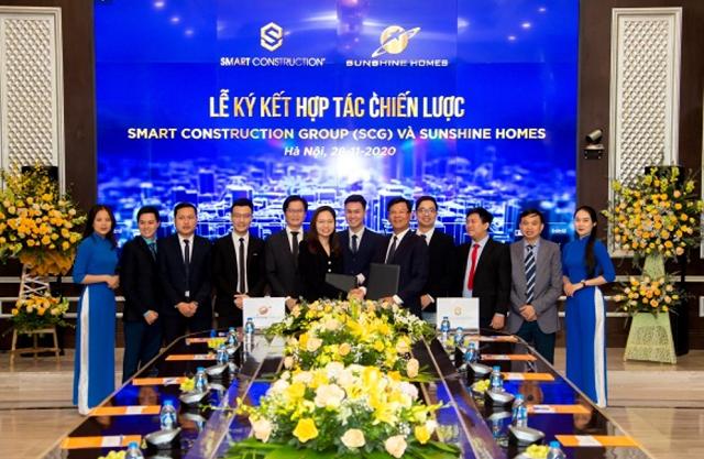 Smart Construction Group ký hợp tác chiến lược với Sunshine Homes
