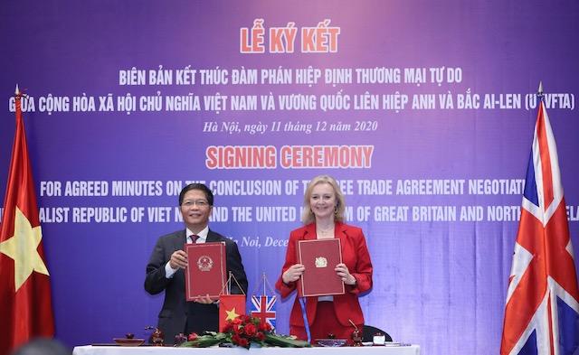 Việt Nam - Vương Quốc Anh hoàn tất đàm phán hiệp định thương mại tự do song phương