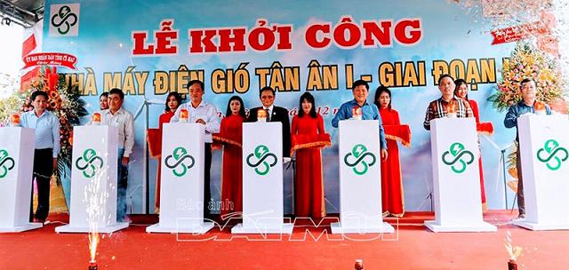 Cà Mau: Khởi công xây dựng nhà máy điện gió Tân Ân 1