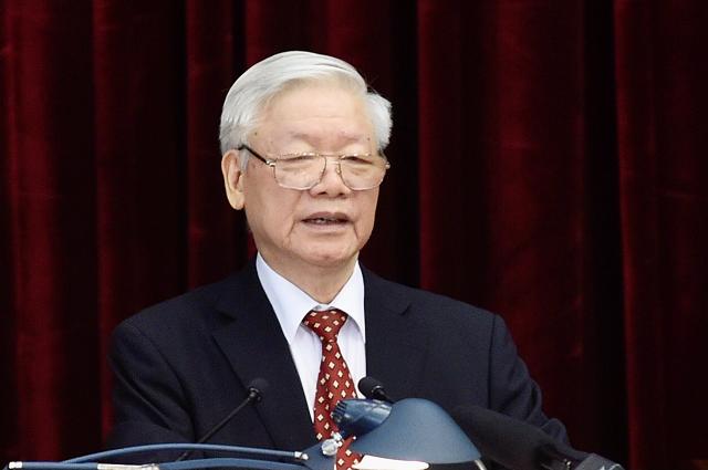 Tổ.ng Bí thư, Chủ tịch nước Nguyễn Phú Trọng  phát biểu khai mạc Hội nghị Trung ương lần thứ 14