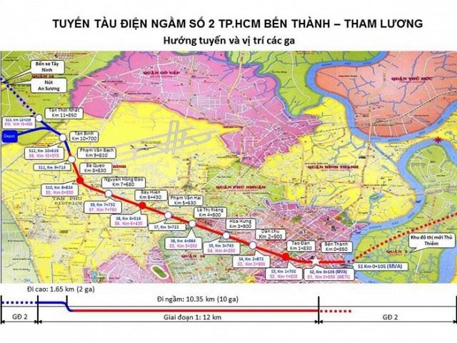 TP HCM: Tuyến Metro số 2 trễ hẹn mặt bằng và những vướng mắc cần giải quyết
