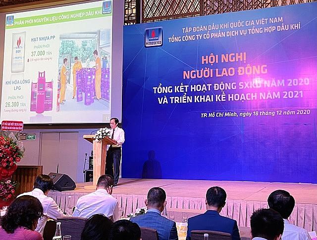 Tổng Giám đốc Vũ Tiến Dương báo cáo tại Hội nghị