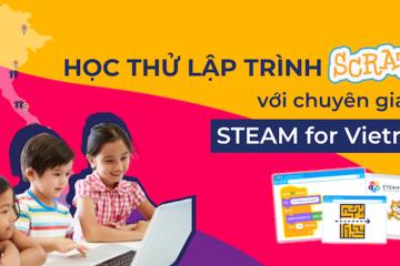 STEAM for Vietnam tuyển sinh khóa học lập trình và công nghệ robotics
