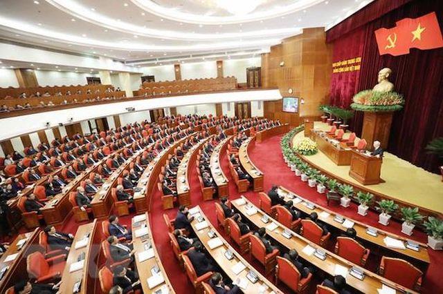 Toàn cảnh phiên bế mạc Hội nghị lần thứ 14 Ban Chấp hành Trung ương Đảng Cộng sản Việt Nam khóa XII.