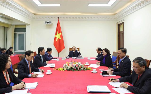 Thủ tướng Nguyễn Xuân Phúc điện đàm với Tổng thống Mỹ Donald Trump