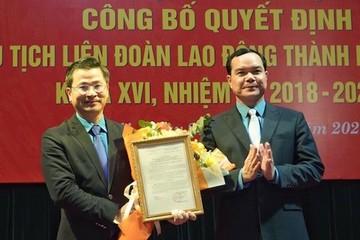 Bí thư Huyện ủy Ứng Hòa làm Chủ tịch Liên đoàn Lao động Hà Nội