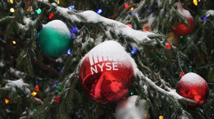 Phố Wall tăng điểm trong phiên rút ngắn đón Giáng sinh