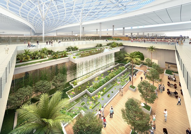 Phối cảnh Nhà ga đến Cảng hàng không quốc tế Long Thành giai đoạn 1.