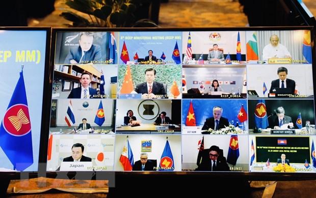 Hội nghị các Bộ trưởng kinh tế của RCEP lần thứ 8. (Ảnh: Trần Việt/TTXVN)