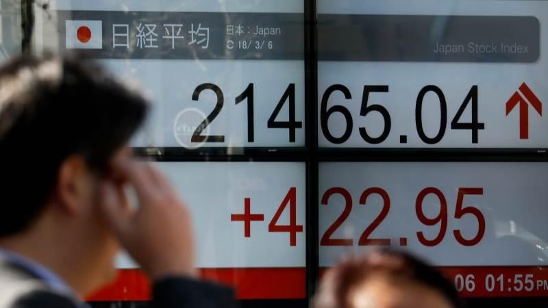Chứng khoán châu Á tăng, thị trường Nhật Bản lên cao nhất gần 30 năm