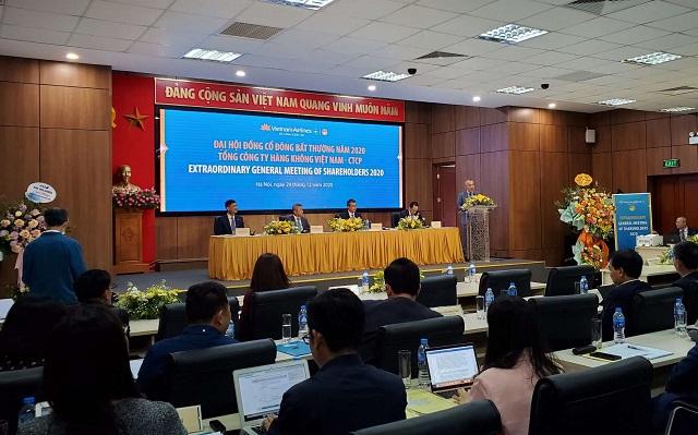 Phiên họp cổ đông bất thường của Vietnam Airlines. Ảnh: Lê Hải.