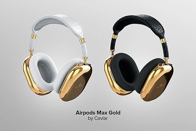 [Caption]AirPods Max Pure Gold có hai lựa chọn màu sắc ẢNH: CAVIAR