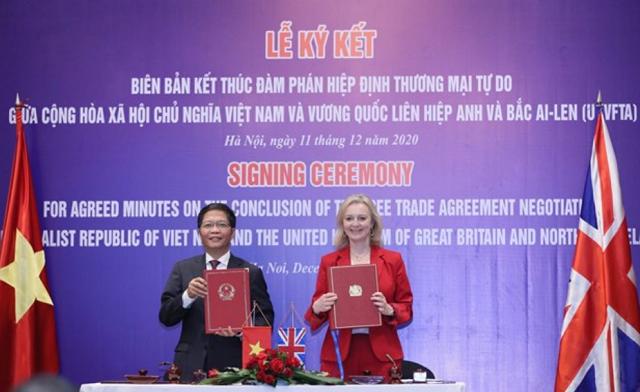 Hiệp định thương mại tự do Việt Nam - Anh sẽ có hiệu lực từ đêm 31/12