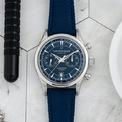 <p> Thông thường, các mẫu đồng hồ được đánh giá cao khi có kiểu dáng sành điệu. <strong>Bucherer Maloney Flyback Chronograph</strong> mang màu xanh sang trọng. Thiết kế phù hợp với những người theo đuổi phong cách lịch lãm. Ảnh: <em>Hodinkee.</em></p>