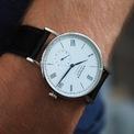 <p> Đồng hồ <strong>Ludwig Neomatik 41</strong> phiên bản giới hạn kỷ niệm 175 năm là thiết kế chưa từng có của NOMOS. Mẫu phụ kiện thêm phần thanh lịch với mặt số tráng men trắng kết hợp kim lá liễu bằng thép xanh. Ảnh: <em>Pinterest.</em></p>