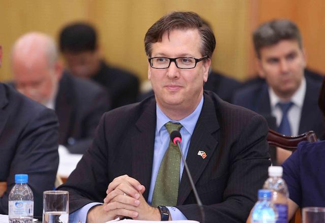 Alexander Feldman, Chủ tịch kiêm CEO Hội đồng kinh doanh Mỹ - ASEAN trong một lần làm việc với Bộ Kế hoạch và Đầu tư. Ảnh: Đức Trung, MPI.