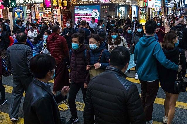 Đường phố Vũ Hán đã trở lại nhộn nhịp. Ảnh: AFP.