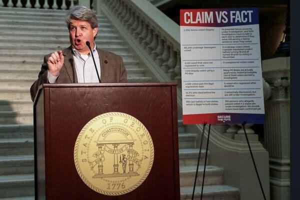 Ông Gabriel Sterling, người quản lý triển khai hệ thống bỏ phiếu của Văn phòng Thư ký bang Georgia. (Nguồn: Reuters)