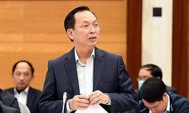 Ông Đào Minh Tú chia sẻ tại một hội nghị hồi tháng 6/2020. Ảnh: VGP.