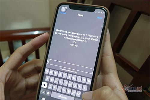 Trong ảnh là mẫu câu hỏi dưới dạng tin nhắn USSD để thu thập ý kiến sau mỗi cuộc gọi nghi ngờ là cuộc gọi rác. Người dùng nên chủ động phản hồi để giúp cơ quan chức năng xử lý dứt điểm tình trạng rác viễn thông. Ảnh: Trọng Đạt