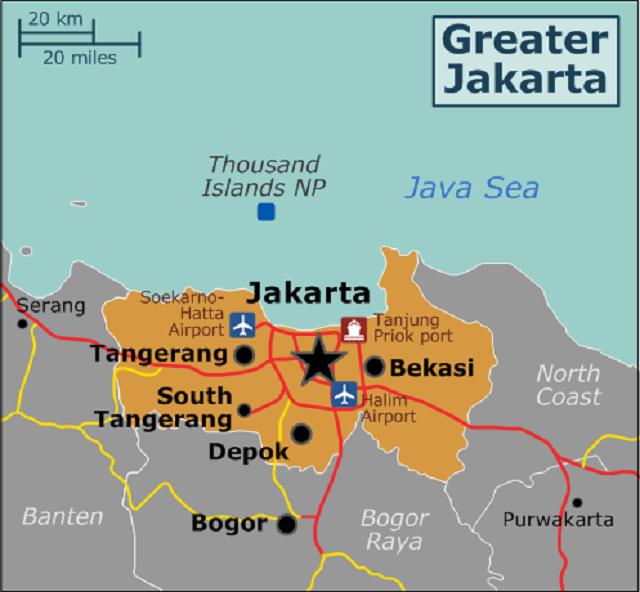 Vị trí sân bay Soekarno-Hatta ở Jakarta. Đồ họa: Commons.