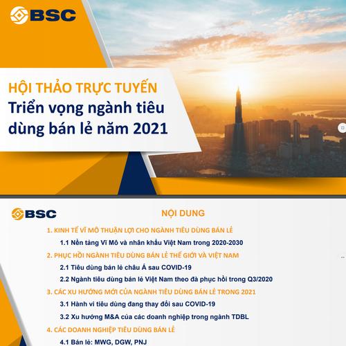 BSC: Triển vọng ngành tiêu dùng bán lẻ năm 2021