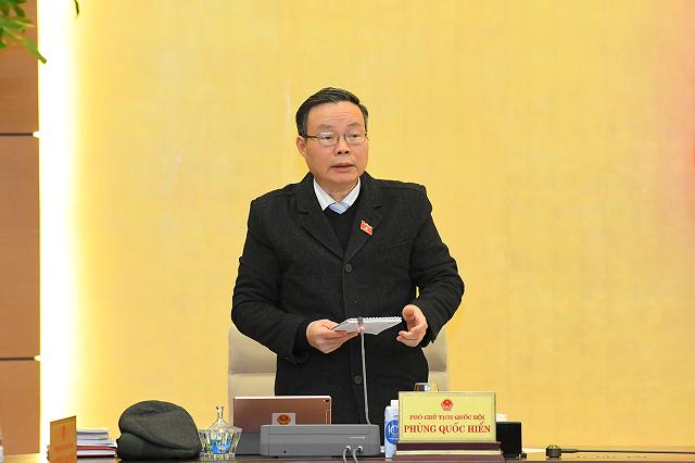 Phó Chủ tịch Quốc hội Phùng Quốc Hiển. Ảnh: Quốc hội.