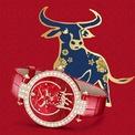 <p> Harry Winston gây ấn tượng mạnh với phiên bản màu sắc nổi bật. Mẫu Premier Chinese New Year Ox Automatic 36mm chỉ có 8 chiếc trên toàn thế giới. Ảnh: <em>Harry Winston.</em></p>