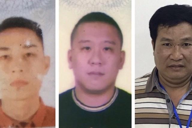 Ba trong số các bị can bị khởi tố trong vụ án Nhật Cường. Ảnh: BCA.