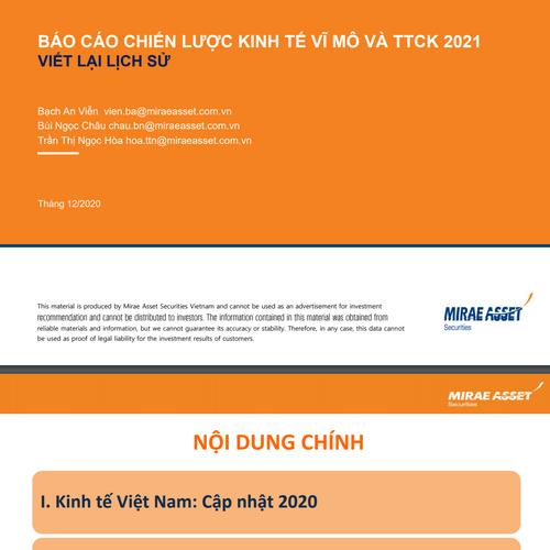 MASVN: Báo cáo chiến lược năm 2021 - Viết lại lịch sử