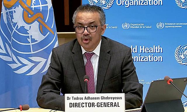 Tổng giám đốc WHO Tedros trong một cuộc họp báo hôm 5/1. Ảnh: AFP.