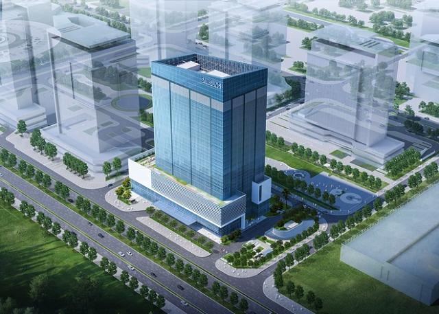 Phối cảnh Trung tâm R&D của Samsung Việt Nam tại khu đô thị Tây Hồ Tây, Hà Nội. Ảnh: Samsung Việt Nam.