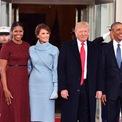 <p> Năm 2017,Đệ nhất phu nhân Melania tham dự lễ nhậm chức của Tổng thống Donald Trump trong chiếc váy màu xanh nhạt của nhà thiết kế Ralph Lauren. Ảnh: <em>Getty Images</em></p>