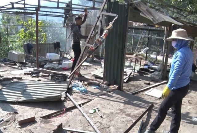 Tiếp tục tháo dỡ loạt công trình xây dựng trái phép tại Tam Đảo